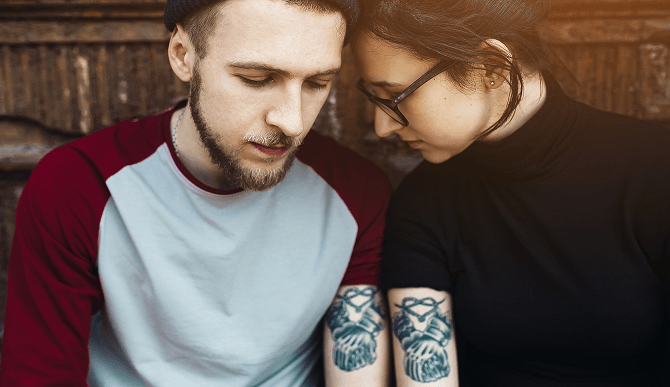 tatouage phrase couple